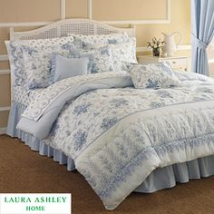 Laura Ashley Sophia Bedding Collection - Online Only Full Comforter Sets, Bedding Sets, Quilt Bedding, Bedroom Bed, Home Decor Bedroom, Laura Ashley Sophia, Barn Bedrooms, Yellow Bedrooms, Beautiful Bedrooms