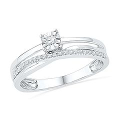 10KT White Gold Round Diamond Promise Ring 16 cttw *** Read more at the image link.