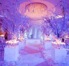 Winter wonderland themed wedding!