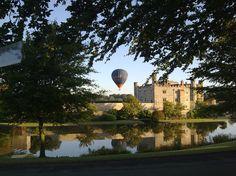 Balloon setting off behind Leeds Castle
