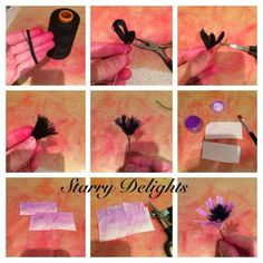 Starry Delights wafer paper flower tutorial. Via cake central