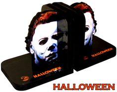 "Michael Myers ""Halloween"" CUSTOM Bookends - LOOK. $34.99, via Etsy."