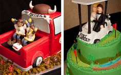 From a 12-foot by 12-foot golf-themed putting green cake complemented by rice crispy golf carts and gophers to elegant wedding cakes to fun alligator cakes and the list goes on. And the best part is that our cakes taste fantastic, too!