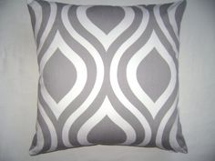 Abstract Grey Pillow Cover Abstract White by CleusaSordiDecor