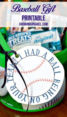 Need an idea for a sports team gift for your child's baseball team? Fill up a bucket with baseball gifts and Kellogg's® Rice Krispies Treats®. Add our free baseball printable for a fun end of the season gift that's sure to be a hit!