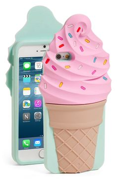 Enjoy an ice cream without the guilt - protect your iPhone with an adorable sprinkle-covered ice cream cone case from Kate Spade!