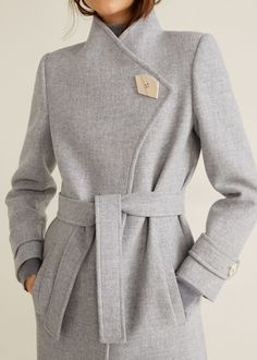 Mango LUNA - Classic coat - gray for with free delivery at Zalando Grey Trench Coat, Trench Coat Outfit, Court Outfit, Mango France, Abaya Designs, Mango Fashion, Sweatshirt Dress, Wool Coat, Coats For Women