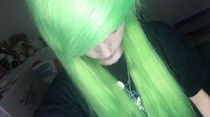 DYEING MY HAIR NEON LIME GREEN