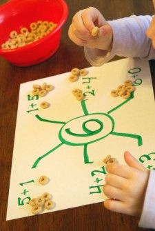 Spider math snack - fun way to learn and snack!