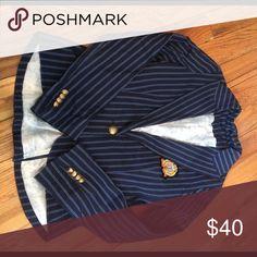 Nautical blazer Raven Tailored navy striped blazer. Good condition. Raven Tailored  Jackets & Coats Blazers