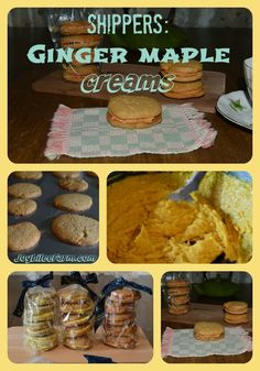 Ginger Maple Cream Cookies- a great gifting idea for the holidays from Joybilee Farm