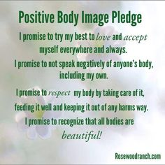 """Positive body image pledge :)     #freespo #bodypositive"" Freespo. I like that, I really like that."