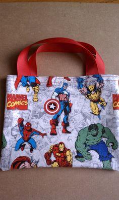 Superhero Marvel Comics Party Favor Bags by LittleScholarBooks, $12.50