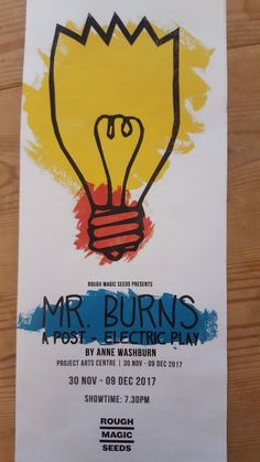 Image result for mr burns a post electric play poster