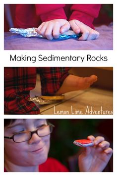 Sedimentary Rocks with Starbursts - using candy to make the different rock types.  Clever plan!