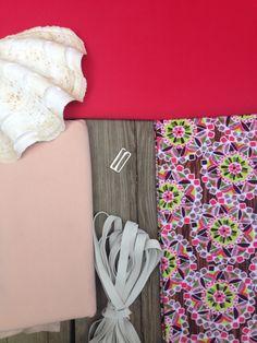 Swimwear Kit: Green Pink & Brown Kaleidoscope by TheEmeraldStudio