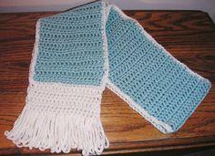 Crocheted Aqua Aquarium Scarf Trimmed in by LynnsCreativeCrochet, $20.00