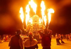 El Pulpo Mecanico. My favorite thing at burning man 2012. Stinker kept sneaking up on me and blasting fire. :)