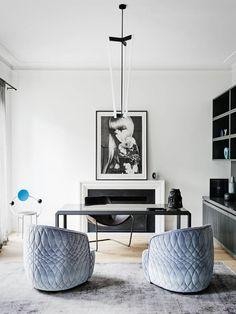 contemporary interior design - desk - black / white - Robson Rak Architects – Toorak2
