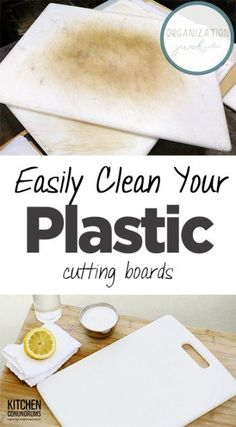 Easily Clean Your Plastic Cutting Boards
