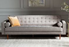 Fusing together a mid century feel with a modern day twist, the Cosgrove sofa is a gorgeous neutral focal point for any living space. Upholstered and button tufted, this piece is timeless and encompasses modern elegance. Furniture Decor, Living Room Furniture, Modern Furniture, Kitchen Furniture, Furniture Hardware, Furniture Stores, Pallet Furniture, Rustic Furniture, New Living Room