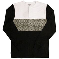 CROOKS & CASTLES PAGODA L/S HENLEY TOP BLACK £59.99 http://www.everythinghiphop.com/Crooks-and-Castles #lifestyle #luxury #hiphopclothing #iwantoneofthose #tshirts