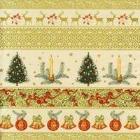 2235 Servilleta decorada Navidad