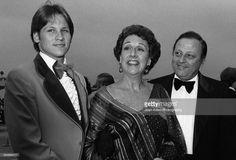 Actress Jean Stapleton (1923-2013) with son John Putch and husband William Putch…