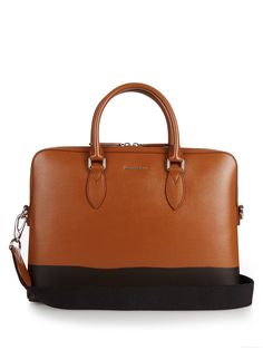Burrow cross-hatch leather briefcase | Burberry Prorsum |