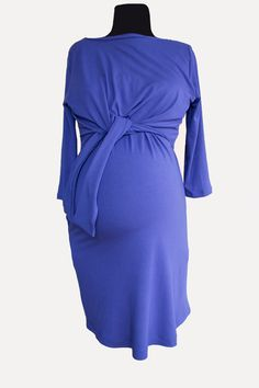 Beautiful and very comfortable maternity and nursing dress that can be worn during the pregnancy and beyond. The inner front panel allows discreet and easy nursing access. The knot in front allows you to adjust the dress to flatter the changing pregnancy shapes. It has pockets! Nursing Dress, Custom Made, Beautiful Dresses, Knots, Pregnancy, Maternity, Dresses For Work, Shapes, Pockets