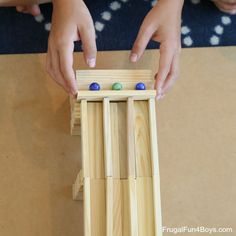 Five Engineering Challenges with KEVA Planks - Frugal Fun For Boys and Girls Creative Activities, Stem Activities, Toddler Activities, Engineering Challenges, Stem Challenges, Stem Science, Science For Kids, Marble Tracks, Stem School