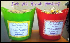 Just Wild About Teaching: Feed the Brain with a Healthy Snack - Freebie!