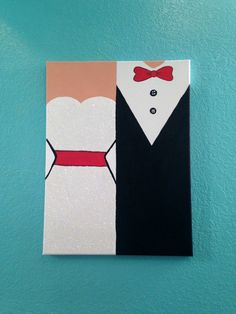 Wedding Day Canvas, Mr and Mrs Canvas, Wedding Decor, Bride and Groom Painting, Wedding Canvas Art, Wedding Gift