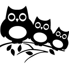 Three owls on a tree – Déco chambre bb Cat Silhouette, Silhouette Portrait, Art Drawings For Kids, Easy Drawings, Stencil Designs, Vinyl Designs, Rose Stencil, Bird Template, Wood Burning Patterns
