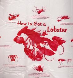 Lobster Bibs How to Eat directions disposable Red Lobster Clambake Summer