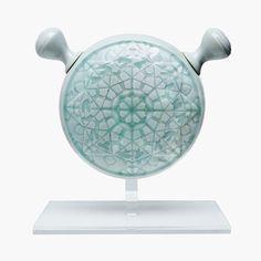 "Ayaka Terajima / sculpture works / 2015 ""2.5 Dimensions Mandara"" #sculpture #art #ceramic #porcelain #potter #collage"