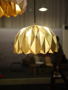 My snapshots from Stockholm furniture fair. Ori lamp by Lukas Dahlén