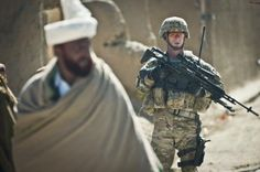 Foot patrol through Yayah Khel, the village where Pfc. Bowe Bergdahl - the only current U.S. POW, was captured.