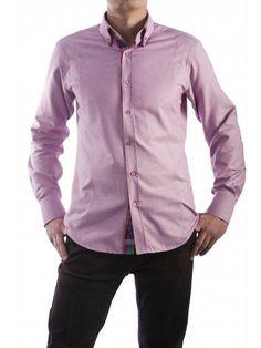 Een mooi roze overhemd van het merk Vegea.