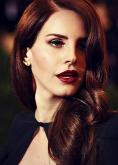 Lana del Rey loose red hair. on The Fashion Time  http://thefashiontime.com/social-gallery/3-hairstyles-that-look-amazing-on-red-hair-and-how-to-do-them-6