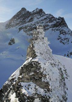 Jungfraujoch, Switzerland: the tallest mountain in Europe.
