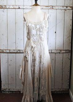 White, Vintage, Victorian Dress.
