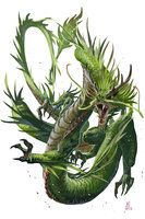 Young Forest Dragon by BenWootten on DeviantArt Dragon Vert, Green Dragon, Black Dragon, Magical Creatures, Fantasy Creatures, Dragon's Lair, Dragon Artwork, Dragon Pictures, Fantasy Monster