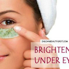 Brighten under eyes with eye masks