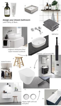 Great bathroom design inspiration for a luxurious contemporary bathing space.