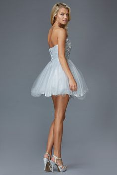 Prima Bella Exclusive Collection G2031 Jeweled Homecoming Cocktail Dress. Available in Coral, Lime or Silver.