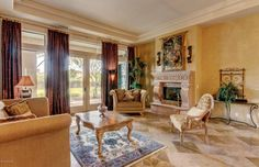 Traditional Living Room with Ballard Design - Sofia Upholstered Chair, Homelegance Fiorella Coffee Table, High ceiling