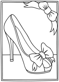Cartoon Shoe Digi Stamp by Kate Hadfield Designs - Simply Cards & Papercraft magazine Colouring Pages, Adult Coloring Pages, Coloring Books, Shoe Template, Drawing Templates, Parchment Craft, Shoe Art, Applique Patterns, Paper Dolls