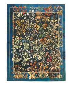 GABRIELLE'S AMAZING FANTASY CLOSET |  Rohka Teal Pretty Flower Silk Scarf | Accessories | Liberty.co.uk