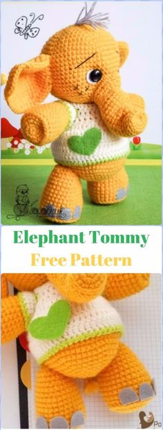 Crochet Fox Patterns: Crochet Elephant Tommy Free Pattern